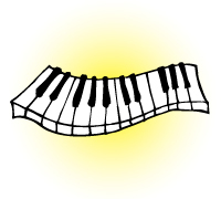 drawing of piano keyboard