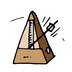 drawing of a metronome