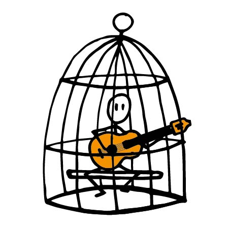 guitarist using CAGED drawings