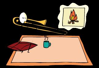 trombonista practicando IFR