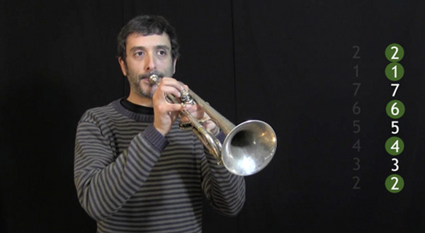 video of IFR Ex. 3 on trumpet, 2 chord modal range