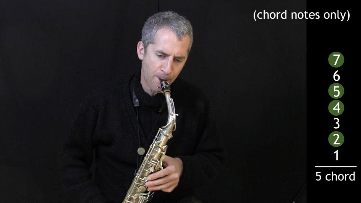video of IFR Ex. 3 on alto saxophone