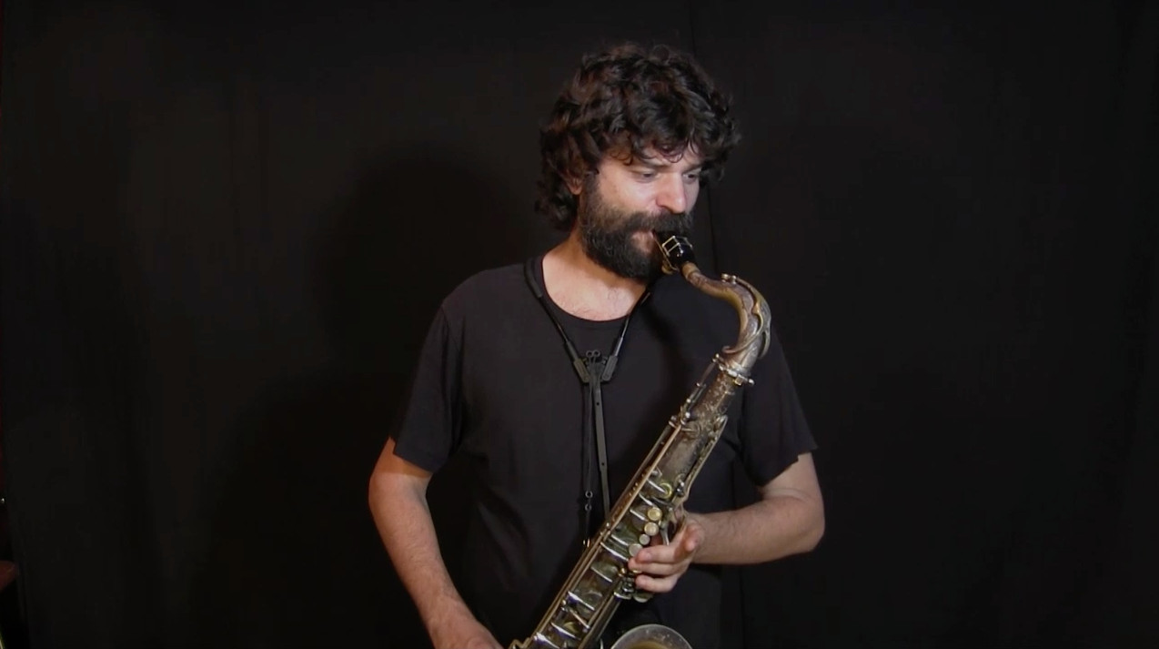 video of IFR Ex. 1 Staircase free improvisation on tenor saxophone