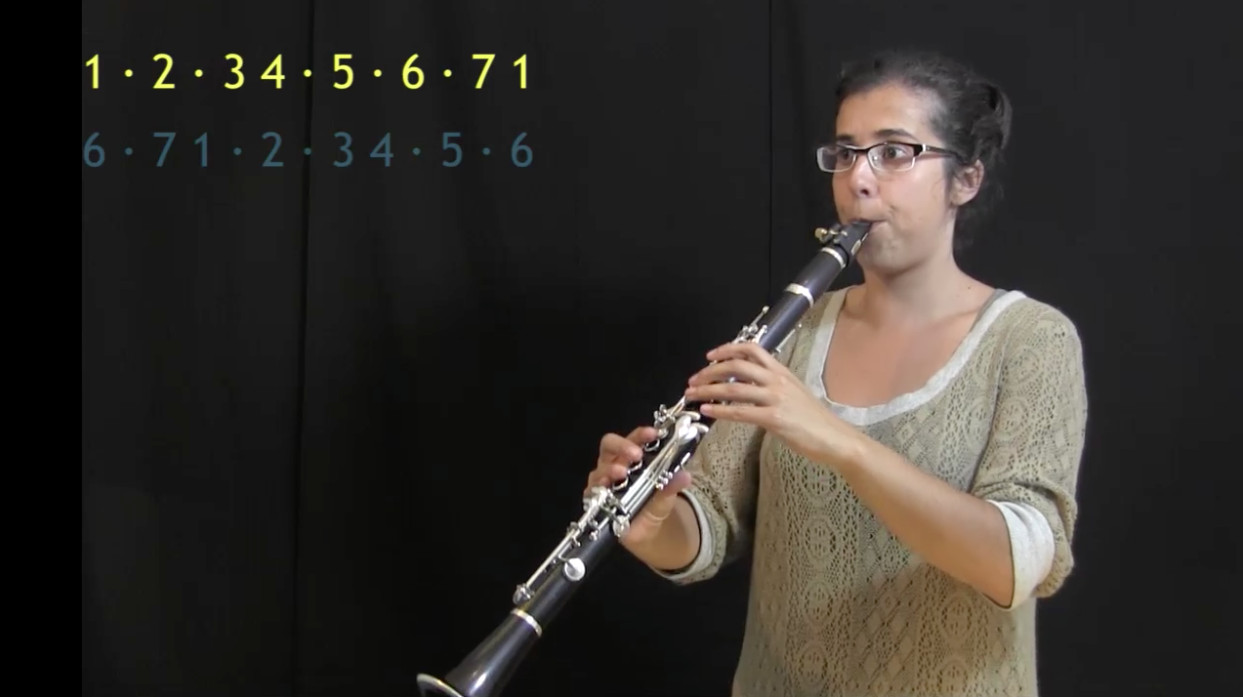 video of IFR exercise Sun and Moon on clarinet