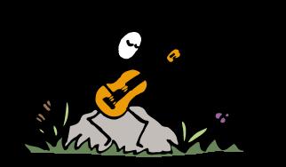 guitarist practicing musical improvisation