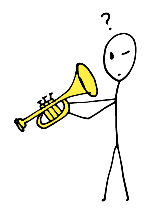 IFR trumpet student looking for the notes